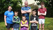 David and Majella Robinson with their children, Jack, Charlie Daithi and Conor