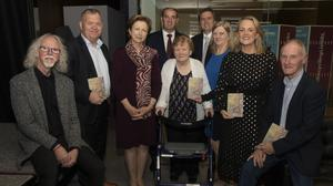 Philip Cullen, Pat Collins, Olivia O'Leary, Minister Paul Kehoe, Maeve Collins, James Browne TD, Triona Irving, Cllr Lisa McDonald and Kevin Lewis