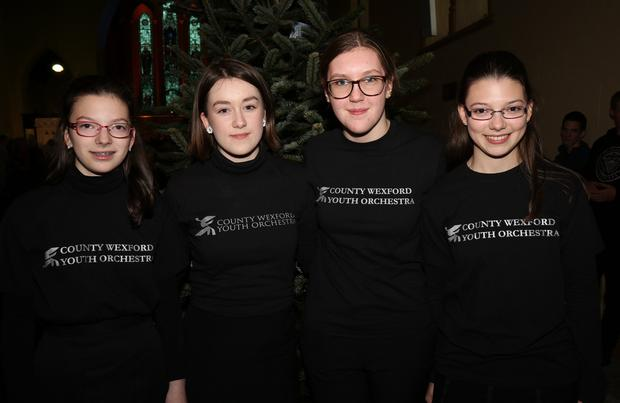 Grace Mercer, Grainne Berry, Ella Peare and Katie Mercer at the Wexford Mental Health Association Christmas concert