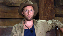 Comedian Andrew Maxwell in the Australian jungle during the latest series of 'I'm A Celebrity... Get Me Out Of Here!'