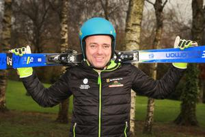 Gorey's Brian Dowling, Irish alpine masters ski racer pictured outside Gorey Community School
