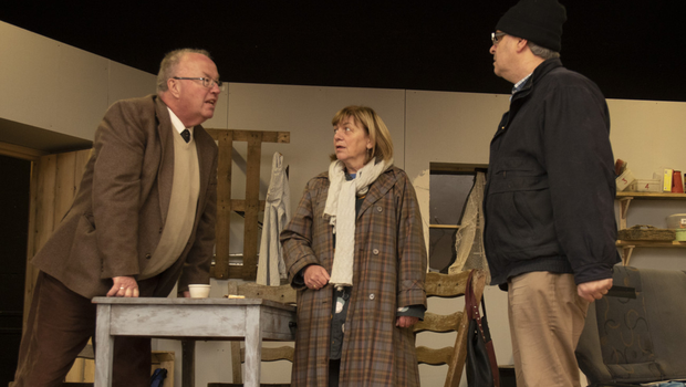 Bridge Drama rehearsing their play 'Thy Will Be Done' by Michael Carey directed by Brigid Scully with cast Paul Tobin (Jack), Aine Gannon (Bridie) , Frank Ryan (Peteen) and Kenneth Murphy (Martin)Tobin