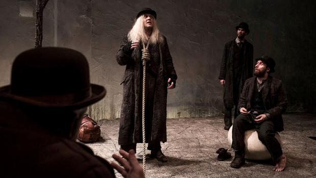 Garrett Lombard (centre) in a scene from Druid Theatre Company's production of 'Waiting For Godot'
