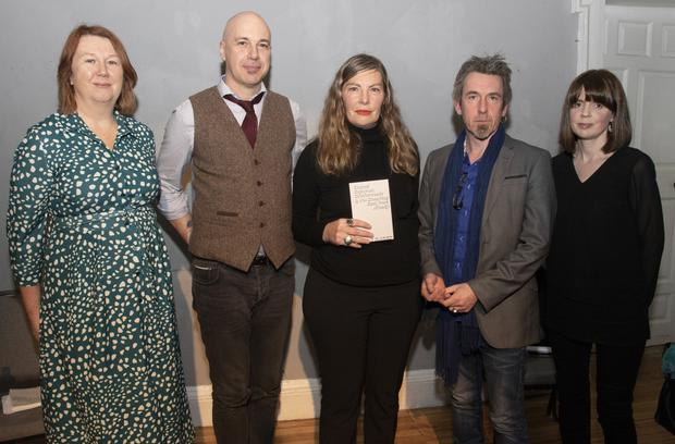 Elizabeth Whyte (Wexford Art Centre), Sean Kiely (who did a reading), Orla Barry, Peter Murphy (who did a reading) and Catherine Bowe (Wexford Art Centre)
