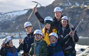 Gorey woman Majella Robinson (right) in Iceland with her family – including her late daughter, Sarah (in yellow) – during a trip which was organised by the Make A Wish Foundation.