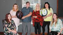 Christy Donohoe with his wife, Carmel Donohoe, and their daughters Philippa, Denise, Colette and Christine