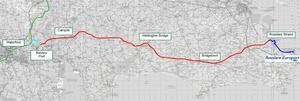 The route of the proposed Rosslare to Waterford Greenway