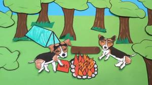 A scene from the students' animation, 'A Dog's Life'