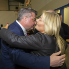 Labour's George Lawlor and Fine Gael's Verona Murphy at the Wexford Count Centre on Saturday