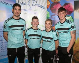 The Hogan family, Tom,J ay, Dena and Josh, pictured at the Hope and Dream 10 launch