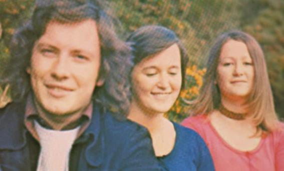 The members of MacMurrough during their heyday in the 1970s: Paul Kavanagh, Josephine O'Neill, and Mary O'Neill.