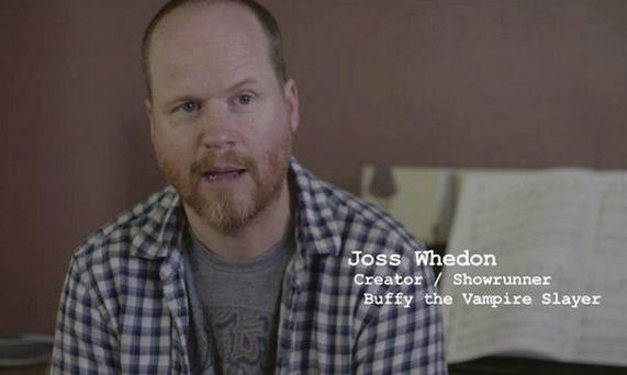 Noted Director Joss Whedon in a still from the 'Showrunners' documentary.