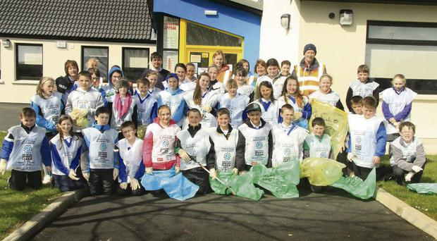 The pupils of Ballycanew National School came in for huge praise for their contribution to the village's Tidy Towns victories.