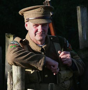 Gorey Postman Brian Kenny, whose interest in World War I reenactments featured in this year's An Post Calendar.
