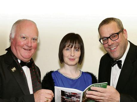 Vice-chairman Eamonn Doran, secretary Hannah Doyle and adjudicator Patrick Sutton.