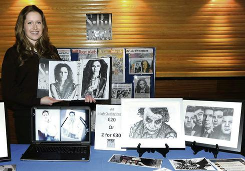 Sarah Ryan from Loreto Secondary School pictured receiving the overall award for her 'Sarah Rose Illustrations' at the X-Cel Enterprise Awards.