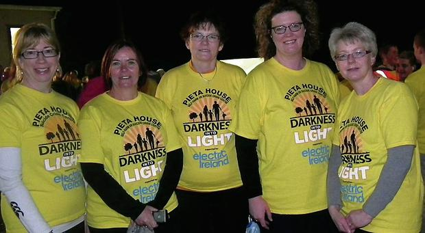 Some of those taking part in Darkness into Light walk.