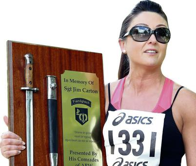 Jim Carton memorial road run, Tanya Tighe.