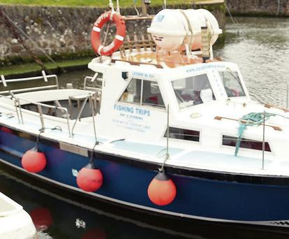 Joe Byrne's boat,The Puffin, which was raided.