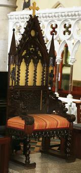 Genuine Pugin piece produced for the architect by his expert wood worker John Crace