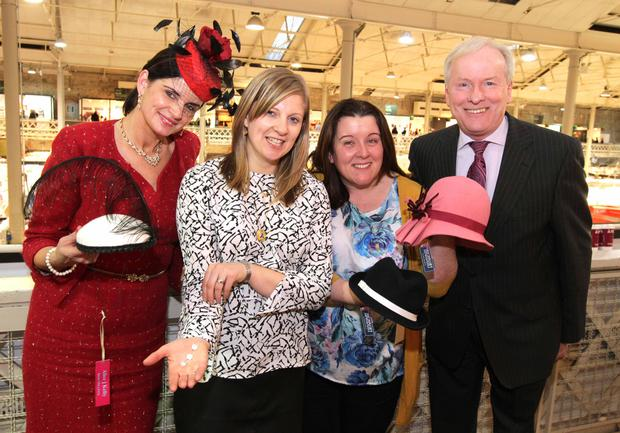 Alice J Kelly, Aine Breen, Amanda Byrne, and Vincent Reynolds, chairman of the national network of enterprise boards, at Showcase