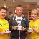 At the coffee day at Lloyds Pharmacy in aid of North Wexford Hospice: Manager Marie Noctor, Ian Sunderland and staff member Christina McDowell