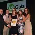 Jerry McDonnell, Gala, with Michael Kelly, Christine Sullivan, and Mary Alice Murphy, from Candy's Gala, with host Lorraine Keane