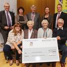 Karen McHugh, Vera Casey, Ann Mahon and Maxwell Graham (at front), of first prize winners Rosslare Community Development Group, with (from left, back) Tony Larkin, Director of Services, Wexford County Council, Mary Reynolds, Mentor, County Council chairman Tony Dempsey, Caroline Horan, Access officer Wexford County Council, and Tom Enright, CE Wexford County Council