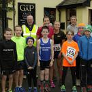 A group of young runners ready to set off on the Gap run in aid of the Gap tidy towns