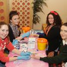 Sinead Casey, Megan Byrne, Emma Hamilton and Kate McDermott at the GCS diabetes clinic