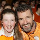 Catriona O'Neill with Cycle Against Suicide founder Jim Breen