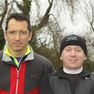 Noel Ivanoff and Paul Spencer at the run