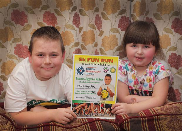 Ben Kelly was pictured recently with his sister Mya as they publicised their 5K fun run which took place on Sunday