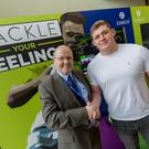 Colm Blake, Marketing Manager at Zurich Insurance with Tadhg Furlong
