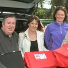Meals on Wheels chairman, Colin Webb with Courtown volunteers, Simone Shea, Nuala Mythen and Bernie Sinnott