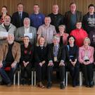 Cllr Tony Dempsey and Siobhan O'Neill with representatives of the funded groups