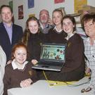 Loreto TY students and FDYS staff at the launch of the new website: Carmel O'Brien, Kieran Donohoe, Katie Donohoe, Anna Gunning, Sean Cooke, Kate Frayne, Aisling Halligan and Siobhan McMahon