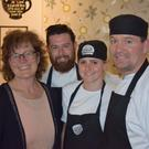 Pictured are Mindy O'Brien, of VOICE, and chefs Lee, Siobhan and 'Rocky' at D'Lush Cafe.