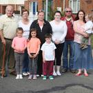 Cllr Fionntán Ó Súilleabháin is pictured with Branogue Park residents in Ardamine who have been without street lighting for the past five weeks. The residents are still waiting to hear why a request was sent to the ESB to switch them off
