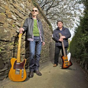 Guitarist Steve Belton (left) and bassist Vinnie Doyle of Cry Before Dawn who are set to rock Gorey on Saturday, July 30