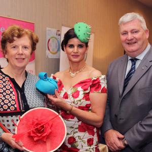 Alice J Kelly, Millinery Blackwater (centre) with Cllr Kathleen Codd Nolan and Wexford County Council chairman, Cllr Paddy Kavanagh