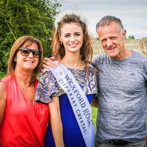 Wexford Rose Sarah-Mai Fitzpatrick with her parents Josephine and Patrick