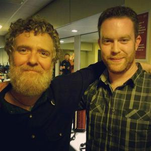 Mark Redmond with Glen Hansard backstage at the National Concert Hall