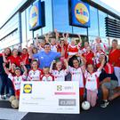 Pictured at the Lidl store in Gorey at the prize handover for the Lidl LGFA Club Competition were the delighted representatives from Kilanerin