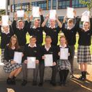 Creagh College students are all smiles after receiving their Junior Cert results last week
