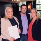 Sales and marketing manager of Seafield Golf and Spa Hotel, Kate Kavanagh, with Andrew Waring and Jane Moore