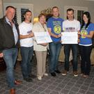 Alan Duggan (Irish Coastguards), Stephen McCaffery (Tri For Ten), Margo Kehoe (Hope Cancer Centre), Darren Holman (Shan for Histiocytosis), Jim Wall (Tri for Ten), Edel Holman (Shan for Histiocytosis) and Sinead Keating (Irish Coastguards)
