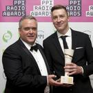 Seán Murtagh of the PPI Radio Awards with Cathal Funge