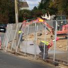The footpath is being built as part of the Gleann an Ghairdín housing development