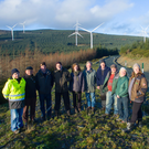Members of the Croghan Cluster at Raheenleagh Wind Farm to officially open the Raheenleagh Wind Farm amenity walks